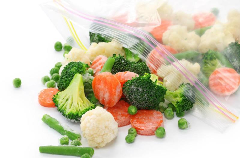 Подготовка овощей к заморозке