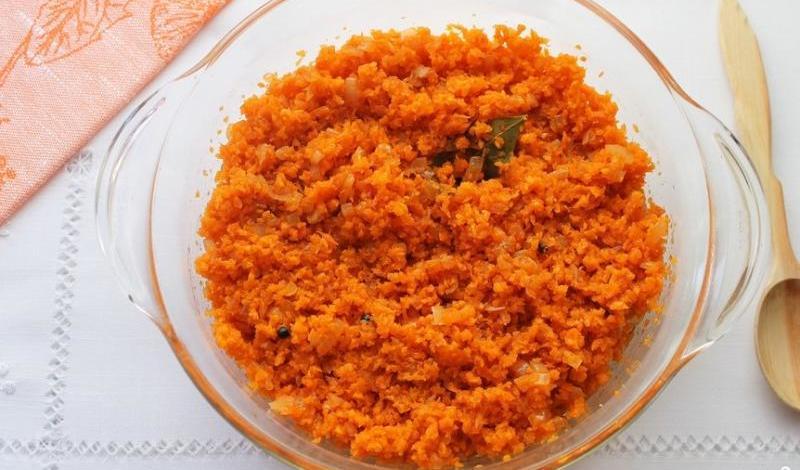 Икра из моркови к столу