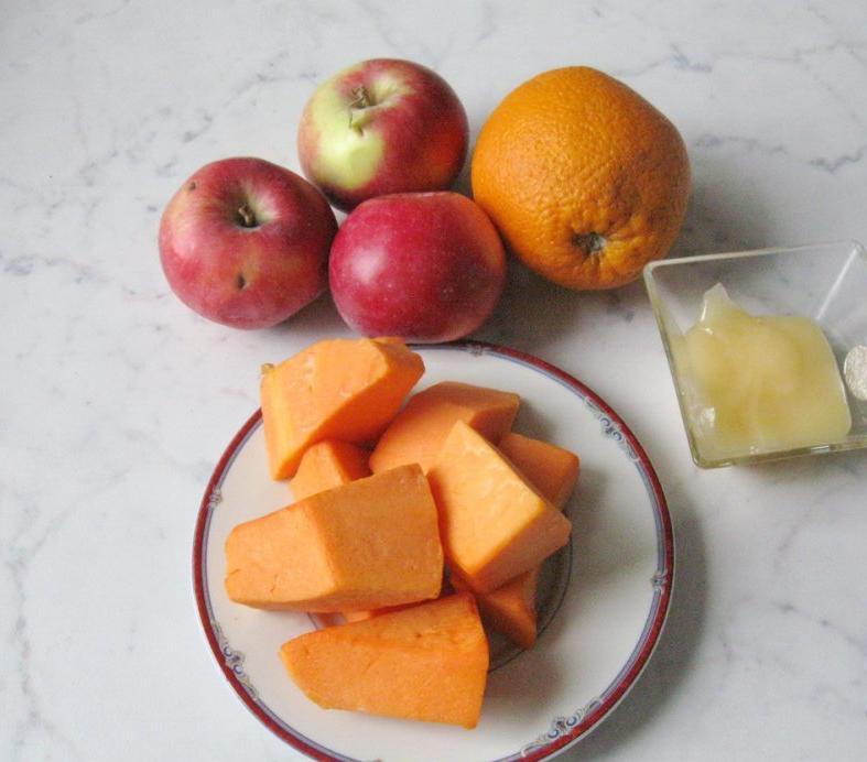 Тыква, апельсин и яблоко