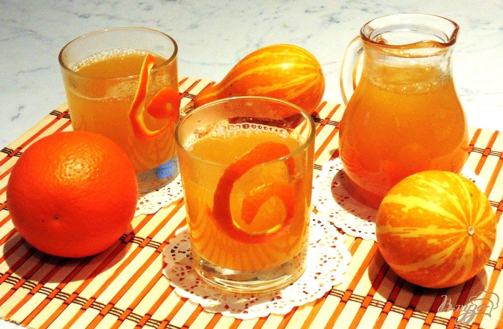 Компот из апельсина и тыквы
