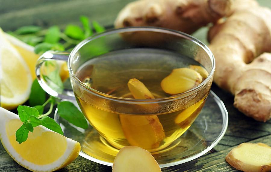 Чай из имбиря, лимона и мёда
