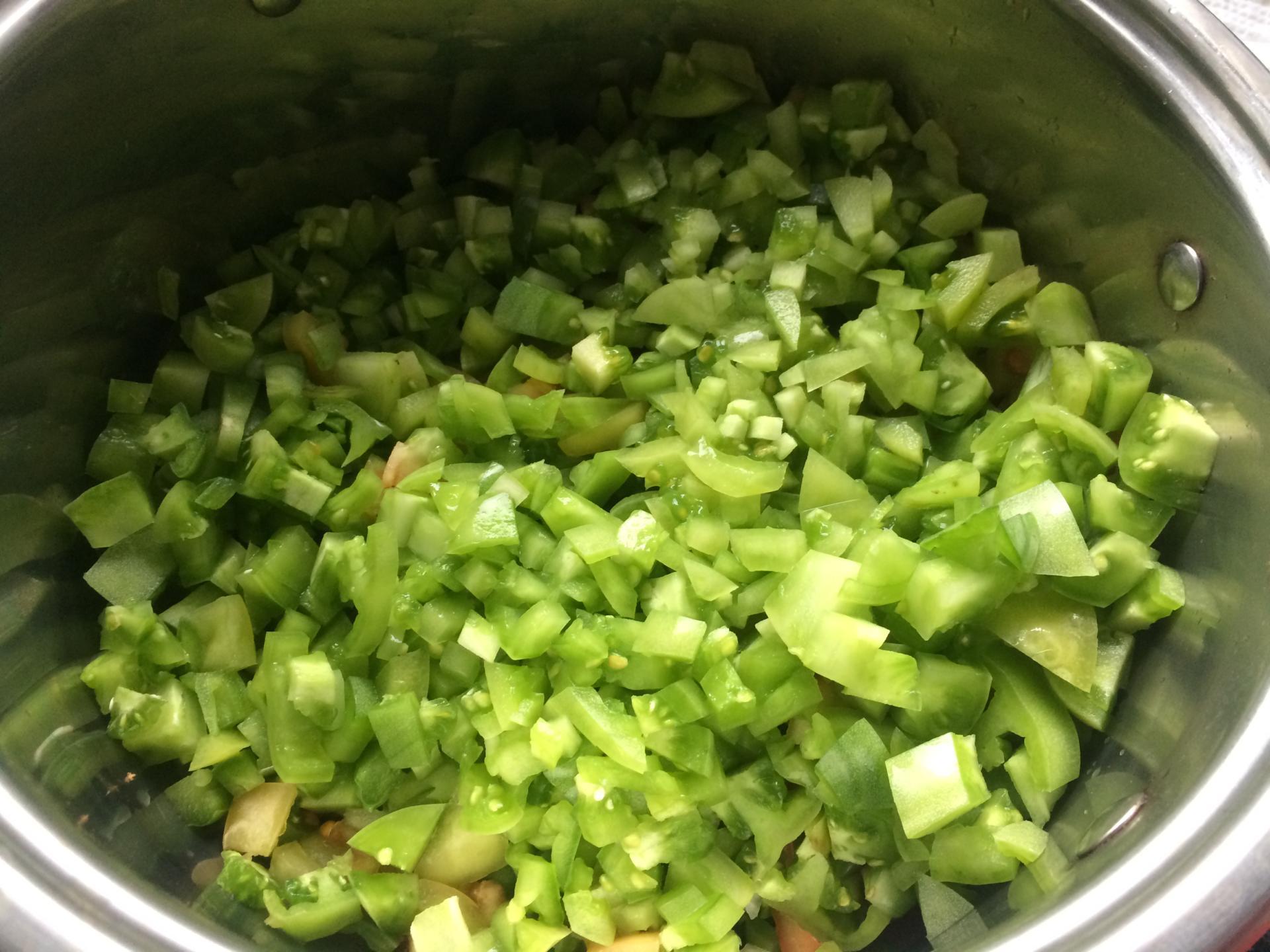 Салат из зеленых помидор на зиму быстрого приготовления
